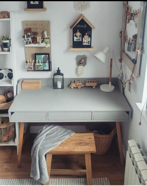 birou minimalist copii