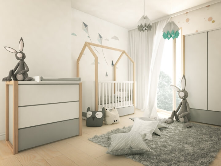 mobilier minimalist copii
